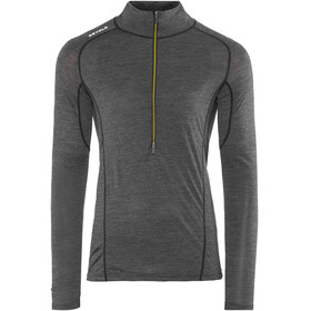 Devold M's Running Zip Neck LS Shirt Anthracite